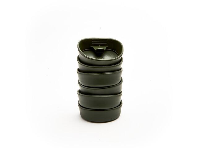 Wildo Fold-A-Cup Set Unicolor 6-Pieces, olive
